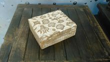 Hand Caved Decorative Wooden Box