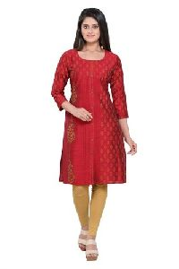 Ladies Trendy  Silk Kurti