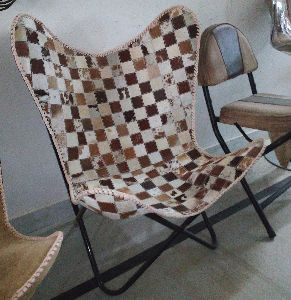 Brown White Leather Arm Chair Star Butterfly Leather Butterfly Chair Home Decor