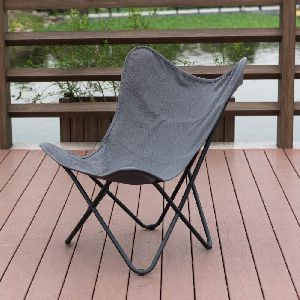 Butterfly Camping Chair With Sturdy Metal Frame And Removable Cover Balcony Home Furniture Office