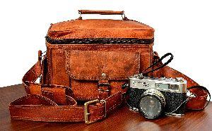 Genuine Leather Vintage Brown Dslr/slr Camera Bag Case