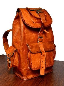 Leather Backpack Travel Rucksack Knapsack Daypack College Bag Znt Bags