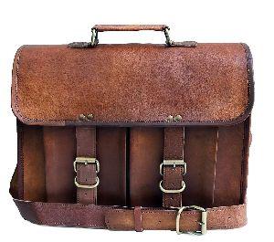 Znt Bags, 15 Inch Genuine Leather Laptop Office Messenger Bag For Men & Women