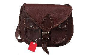 Znt Bags Leather Sling Bag Cum Vertical Briefcase Brown