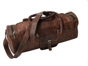 2f6172f52 Znt Bags Vintage Leather Brown Duffle Travel Bag/overnight Bag Weekend Bag  Leather Gym Sports