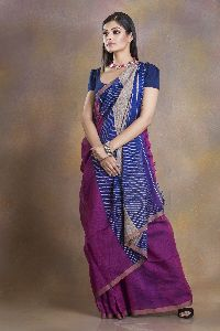 Cotton Silk Ghicha Work Saree