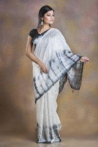 Tie Dye Shibori Matka Silk Saree
