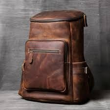 Leather Travel Backpack Bags