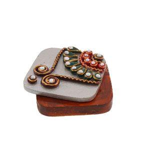 Rajsthani Kundan Gold Silver Coin Box (hd3)