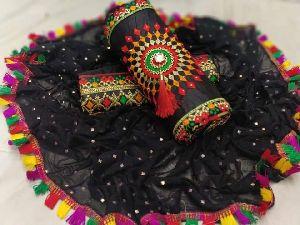 Black Fancy Dress Material