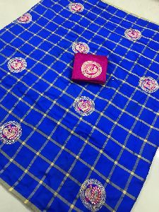 Blue Panetar Sana Silk Embroidered Sarees