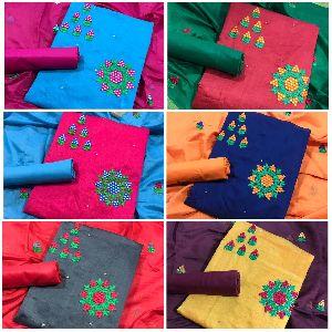 Designer Top Modar Silk With Santoon Inner Dress Material
