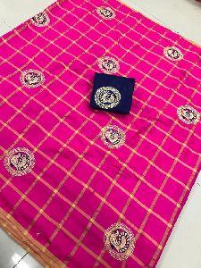 Pink Panetar Sana Silk Embroidered Sarees