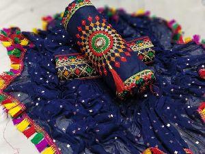 Royal Blue Fancy Dress Material