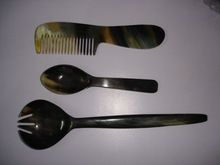 Buffalo Horn Cutlery Sets Including Serving Spoons