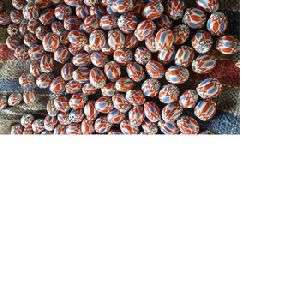 Handmade Chevron Glass Beads For Bead Stores, Art And Crafts