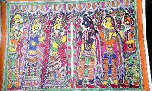 Handmade Paper Madhubani Painting