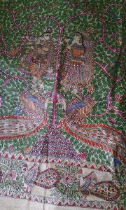 Silk Madhubani Painting