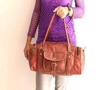 Leather Mini Luggage Bag Travel And Hand Bag