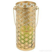 White Inside Gold Glass Votive T-light Holder