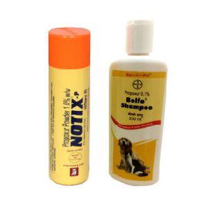 Notix Anti Tick And Flea Powder 100g With Bayer Bolfo Shampoo 200ml (pack Of 2)