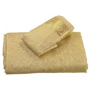 Skirts N Scarves Women Brocade Artificial Silk Sari