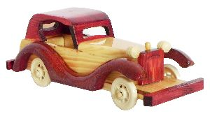 Wooden Crafted Classic Car Model