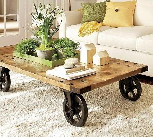 Wooden Portable Coffee Table