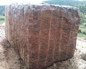 Red Rose Rough Granite Blocks