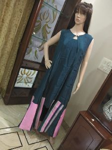 Ladies Crepe Silk Long Kurta