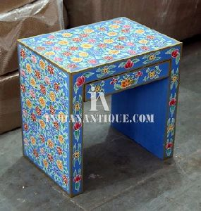 Painted One Drawer Wooden Bed Side Night Stand