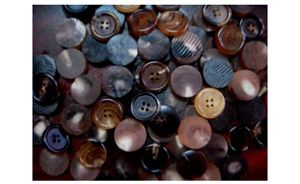 Buffalo Color Horn Button Blanks