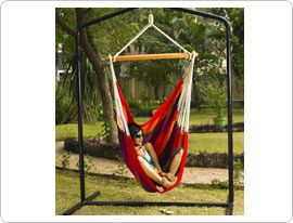 Brazilian Fabric Sitting Hammock: