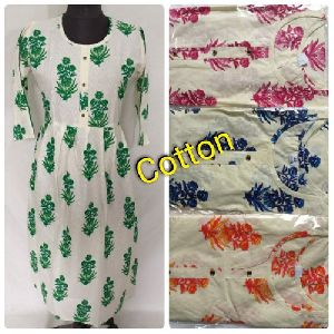 Cotton Party Wear Ladies Anarkali Kurti