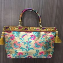 fabrics embroidery Handbags