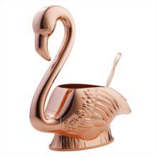 Copper Flamingo Punch Bowl