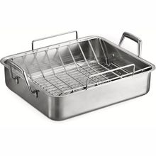 Stainless Steel Baking Tray With Grill
