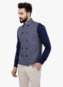 Grey Wool Double Breasted Jacket