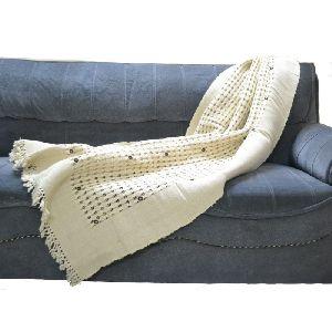 Designer Burlap Cotton Throw