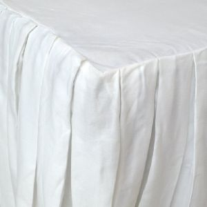 White Box Pleated Bed Skirt