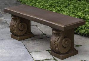 Dark Brown Marble Bench