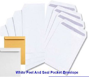 White Peel and Seal Pocket Envelope
