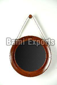 leather covered mirrors
