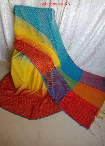 khadi cotton ikkat sarees