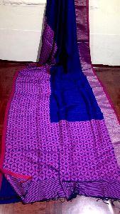 lilen by cotton Saree