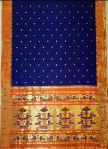 Dark Blue  Silk Paithani Sarees
