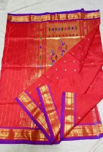 Red Silk Paithani Sarees