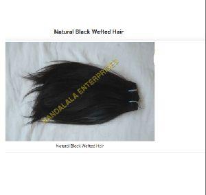 Natural Black Wefted Human Hair