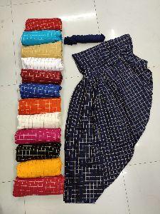 Cotton Check Salwar with Plain Dupatta