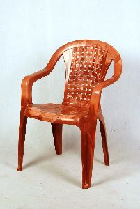 Brown Matt Finish Plastic Chair